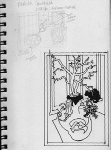 Patrick Caulfield's 'studies initial linework