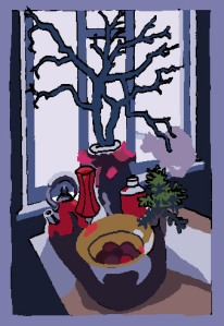 Patrick Caulfield's 'studies digital painting
